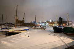 Gdansk in the snow Stock Image