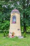 Gdansk Sobieszewo, Polen - Juni 17, 2017: Kapel met Ster van Overzees in Sobieszewo-Eiland Royalty-vrije Stock Afbeeldingen