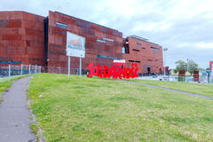 Gdansk. Solidarity Museum. Gdansk, Poland - July 30, 2015: Museum and Monument of Solidarity in Gdansk. In memory of the events of struggle against the communist Stock Image