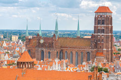 Gdansk. St. Mary's Basilica. Stock Photo