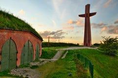 Gdansk stadsbefästningar Arkivfoto