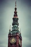 Gdansk stadshus i Polen Arkivfoton