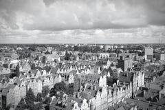 Gdansk svartvit Arkivfoto