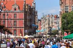 Gdansk tijdens het Euro Kampioenschap van 2012 Stock Foto's