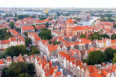 Gdansk. Top view. Stock Image