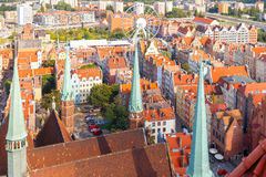 Gdansk. Top view. Royalty Free Stock Image