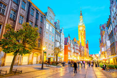 Gdansk town hall Royalty Free Stock Images