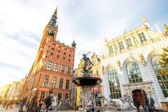 Gdansk town hall Stock Photos