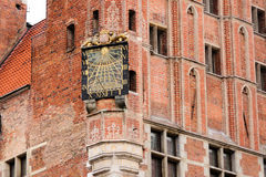Gdansk Town Hall Sundial Royalty Free Stock Photography