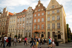 Gdansk town houses Stock Photo
