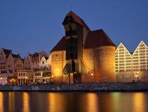 Gdansk van Rivieroever bij dageraad Royalty-vrije Stock Afbeelding
