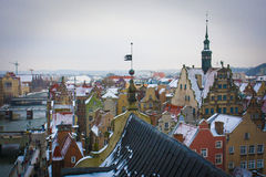Gdansk. View from the tower on the Gdansk Stock Images
