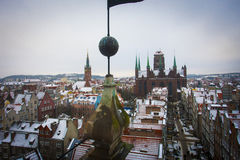 Gdansk. View from the tower on the Gdansk Royalty Free Stock Images