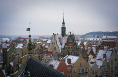 Gdansk. View from the tower on the Gdansk Royalty Free Stock Photo