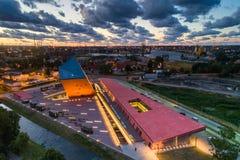 Gdansk-Vogelperspektive lizenzfreies stockbild