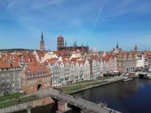Gdansk von oben stockfotografie
