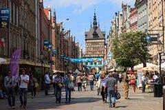 Gdansk während der Euromeisterschaft 2012 Stockfotografie