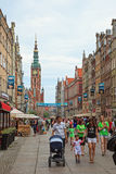 Gdansk während der Euromeisterschaft 2012 Lizenzfreie Stockbilder