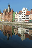 Gdansk waterfront, Poland. The old buildings on the waterfront at Gdansk, Poland Royalty Free Stock Images
