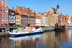 Gdansk - waterfront with ships Royalty Free Stock Image