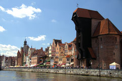 Gdansk. Weltawa river in Gdansk  in the summer Royalty Free Stock Photos