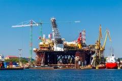 gdansk Werfte im Seehafen Stockfotografie