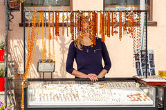 gdansk złotej biżuterii Fotografia Royalty Free