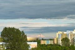 Gdansk Zaspa cityscape Arkivfoto