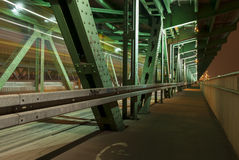 Gdanski bridge (Most Gdanski), Warsaw, Poland. Royalty Free Stock Image