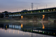 Gdanski bridge in Warsaw Stock Image