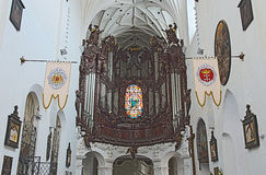 Gdański Oliwa - organ w katedrze, Polska Obrazy Stock