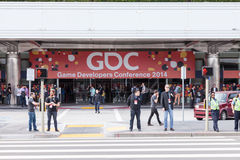 GDC 2014 entrance and logo Royalty Free Stock Photography