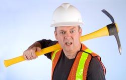 gderliwy budowa pracownik obrazy stock