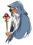 Gderliwy czarownik royalty ilustracja