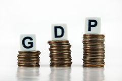 GDP (Gross Domestic Product) – Business Concept Stock Photos