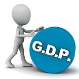 Gdp. Gross domestic product or GDP, national income and financial concept Stock Image