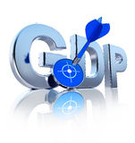 GDP icon Royalty Free Stock Image