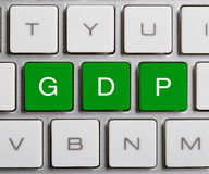 GDP On Keyboard Royalty Free Stock Photo
