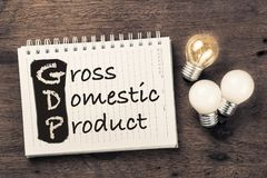GDP Knowledge Royalty Free Stock Photos