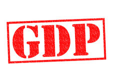 GDP Rubber Stamp Royalty Free Stock Photo