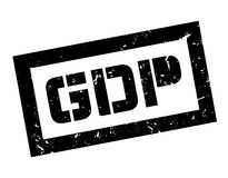 GDP rubber stamp. On white. Print, impress overprint Stock Photo