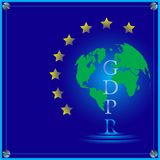 Gdpr传染媒介例证 免版税图库摄影