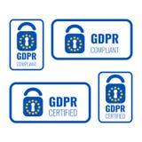 GDPR徽章集合 库存例证