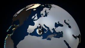 GDPR欧洲挂锁3D地球 皇族释放例证
