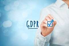 GDPR è implementato Immagine Stock