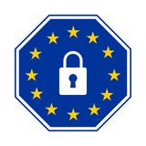 GDPR - Γενικός κανονισμός προστασίας δεδομένων, διανυσματικό octogonal εικονίδιο Στοκ φωτογραφίες με δικαίωμα ελεύθερης χρήσης