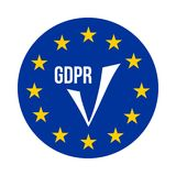 GDPR - Γενικός κανονισμός προστασίας δεδομένων, εικονίδιο επιβεβαίωσης Στοκ Εικόνα