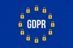 GDPR -一般数据保护章程 库存图片