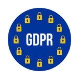 GDPR -一般数据保护章程 图库摄影