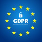 GDPR abstract background template with star. Vector art stock illustration